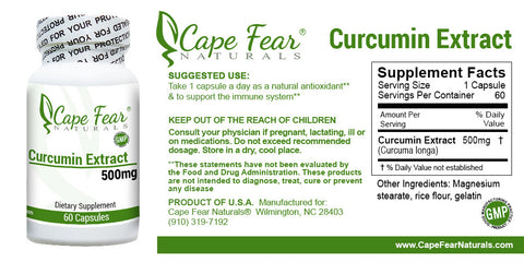 Curcumin Extract - Cape Fear Naturals, LLC