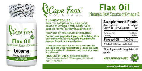 Flax Oil - Cape Fear Naturals, LLC
