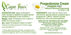 Progesterone Cream PARABEN FREE   TEMPORARILY OUT OF STOCK - Cape Fear Naturals, LLC