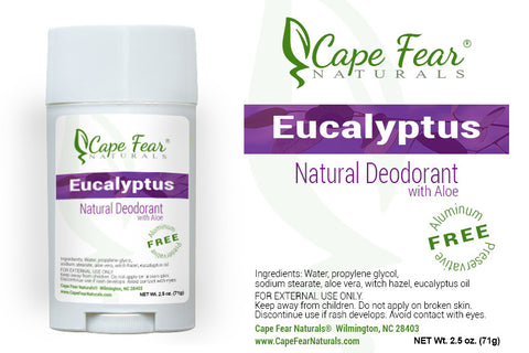 Natural Deodorant – Eucalyptus - Cape Fear Naturals, LLC