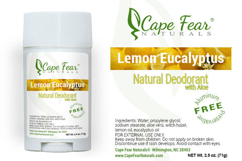Natural Deodorant – Lemon Eucalyptus - Cape Fear Naturals, LLC