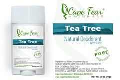 Natural Deodorant - Tea Tree - Cape Fear Naturals, LLC