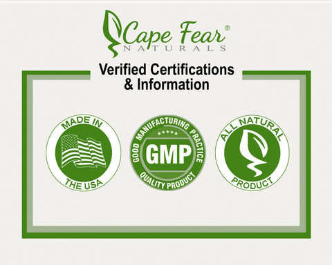 verified certifications and information: made in the usa, gmp good manufacturing practice quality product. all natural product