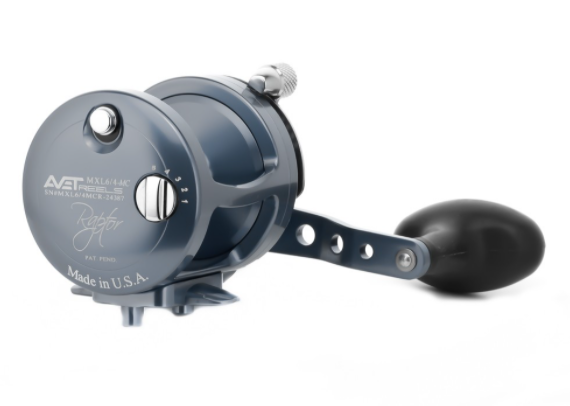 AVET MXL6/4-MC RAPTOR TWO SPEED GUNMETAL REEL