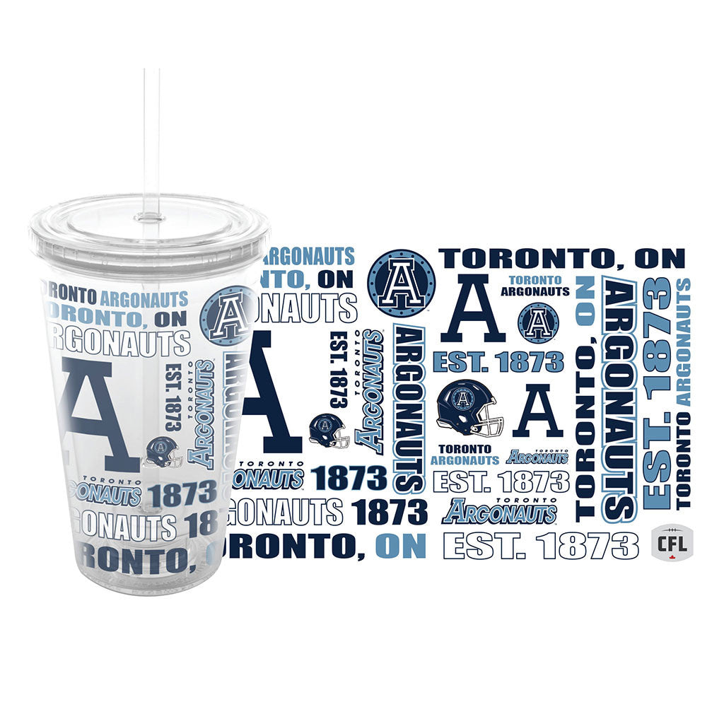 Toronto Argonauts 14oz. Journey Tumbler - Collage Design