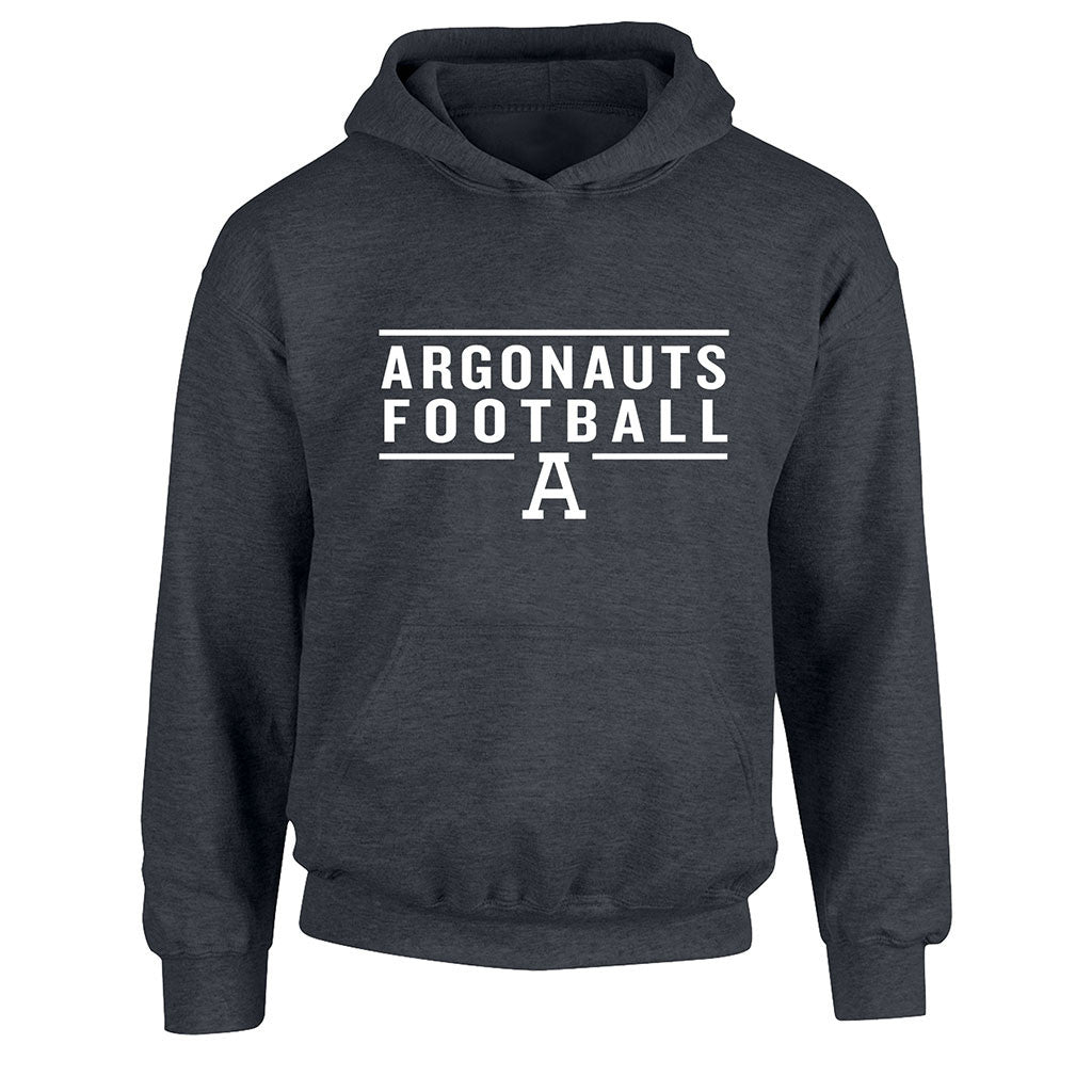 Toronto Argonauts Exclusive Youth Charcoal Heather Hoodie - Design 24