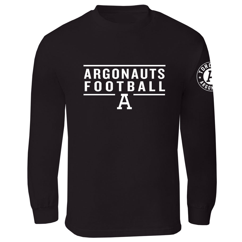 Toronto Argonauts Exclusive Adult Black Long Sleeve Tee - Design 24/34