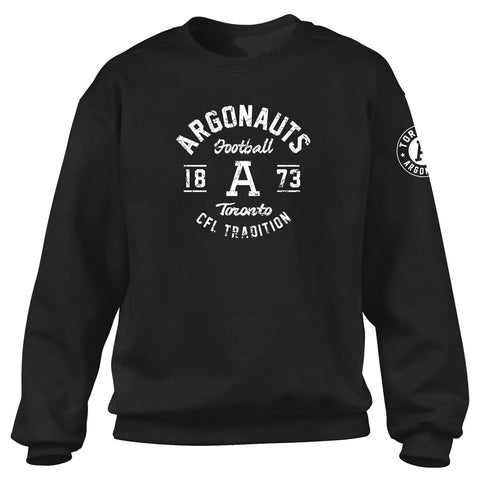 Toronto Argonauts Exclusive Adult Black Crew - Design 04D/34