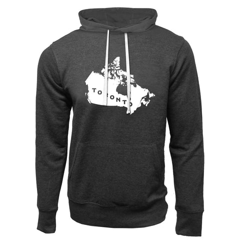 Toronto Argonauts 2018 Men's Map Charcoal Heather Hoodie