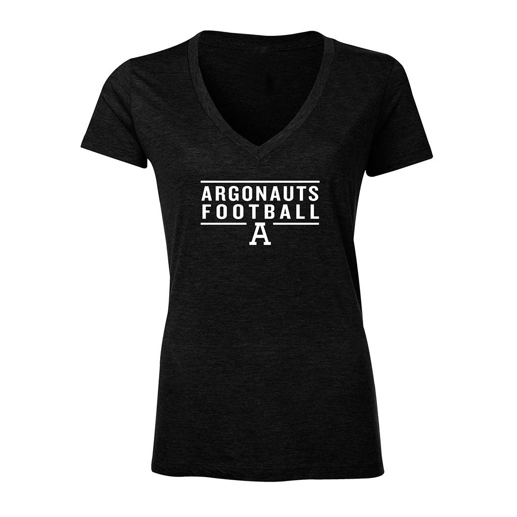 Toronto Argonauts Ladies Exclusive V-Neck Tee - Design 024