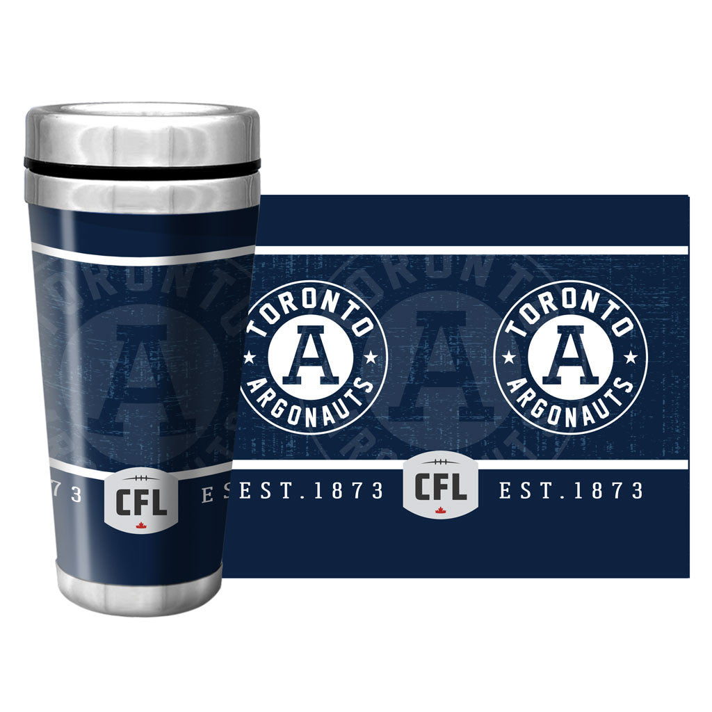 Toronto Argonauts Exclusive 16oz. Travel Mug Full Wrap