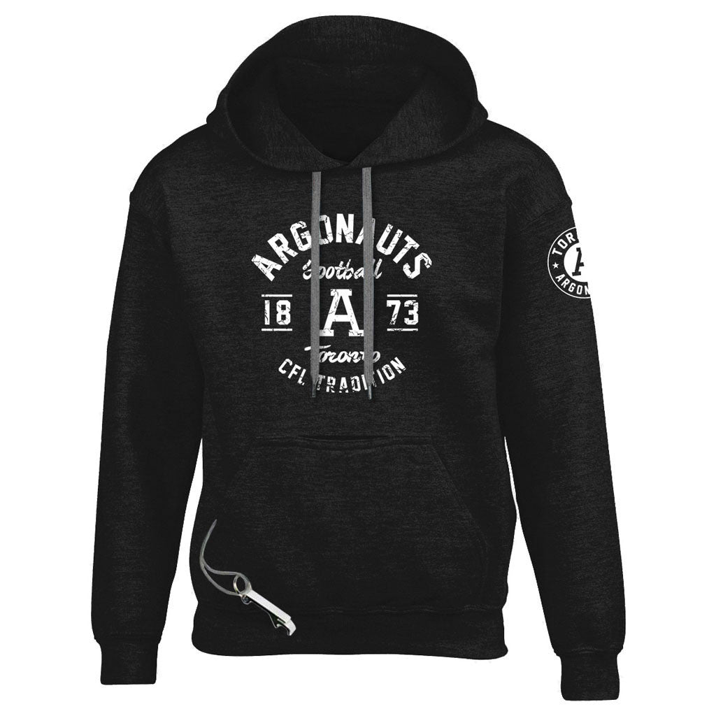Toronto Argonauts Exclusive Adult Black Tailgate Hoodie - Design 04D/34