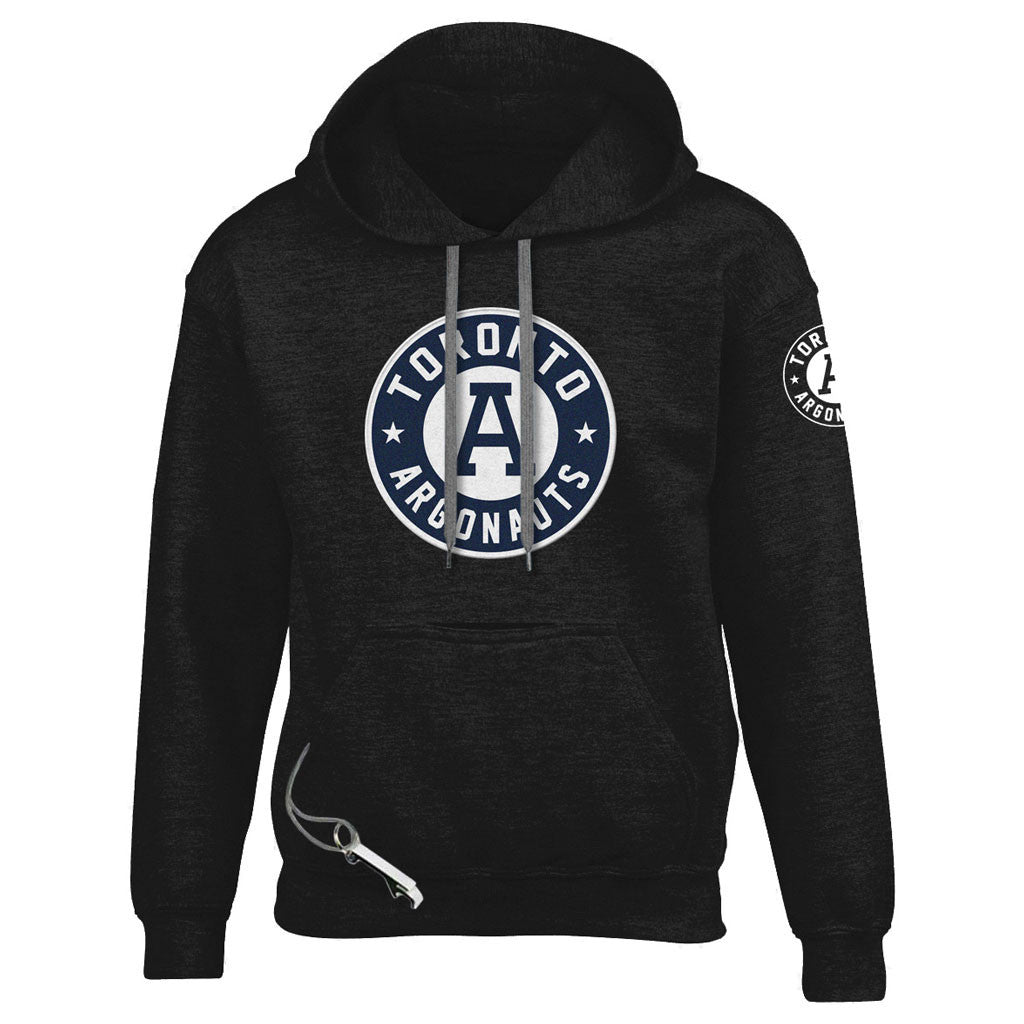 Toronto Argonauts Exclusive Adult Black Tailgate Hoodie - Design 34/34