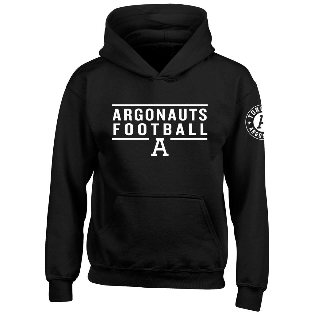 Toronto Argonauts Exclusive Youth Black Hoodie - Design 24/34