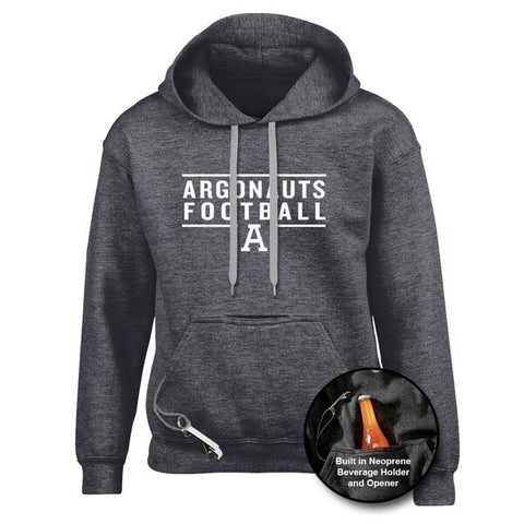 Toronto Argonauts Charcoal Heather Tailgate Hoodie - Design 24