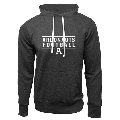Toronto Argonauts Exclusive Adult Charcoal Heather French Terry Fashion Hoodie - Design 24
