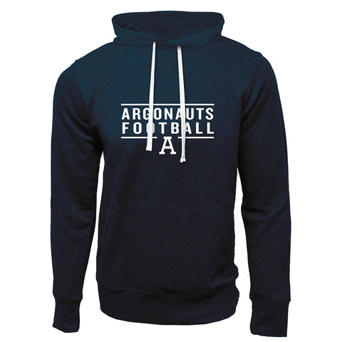 Toronto Argonauts Exclusive Adult Navy French Terry Fashion Hoodie - Design 24