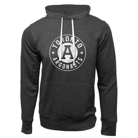 Toronto Argonauts Exclusive Adult Charcoal Heather French Terry Fashion Hoodie - Design 34D