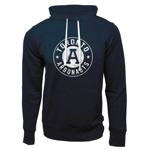 Toronto Argonauts Exclusive Adult Navy French Terry Fashion Hoodie - Design 34D