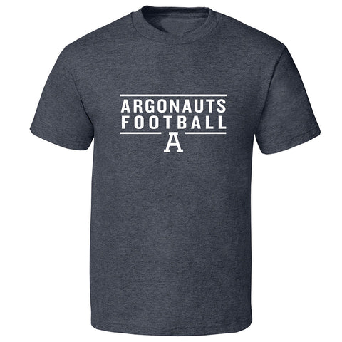 Toronto Argonauts Exclusive Adult Charcoal Heather T-Shirt - Design 24