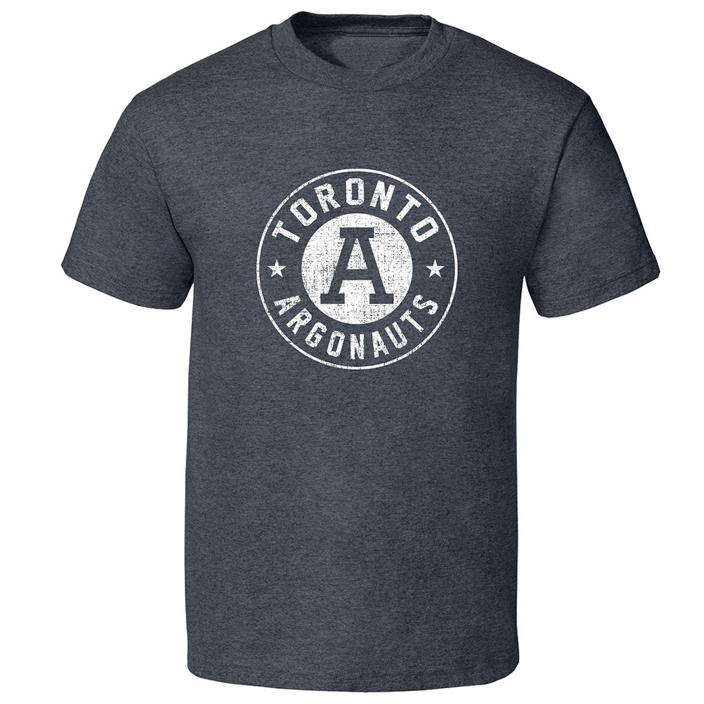 Toronto Argonauts Exclusive Adult Charcoal Heather T-Shirt - Deisgn 34D