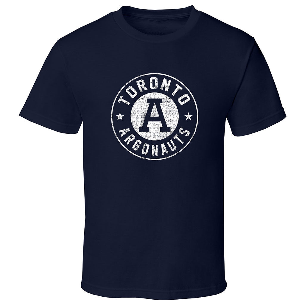 Toronto Argonauts Exclusive Adult Navy T Shirt Design