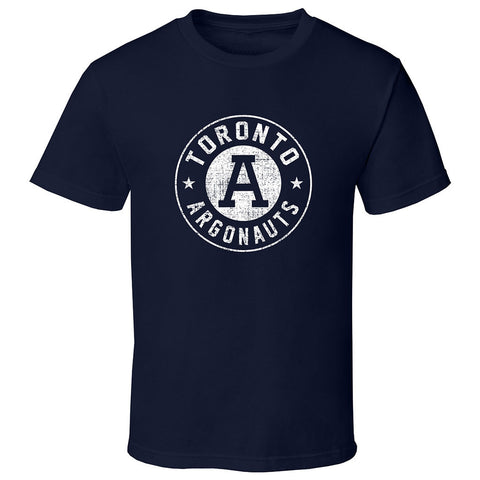 Toronto Argonauts Exclusive Adult Navy T-Shirt  - Design 34D