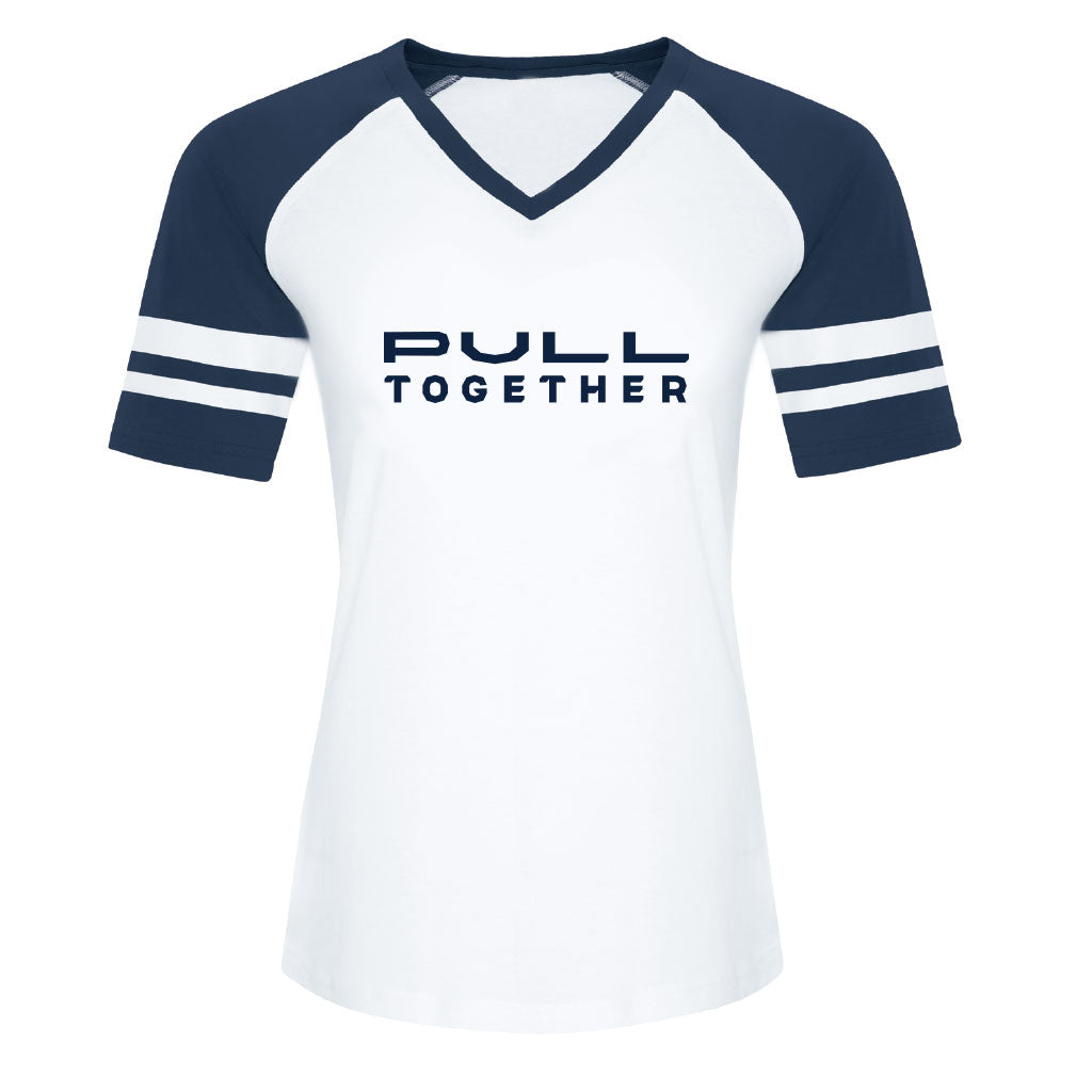 Toronto Argonauts 2018 Ladies Pull Together White/Navy Jersey Tee