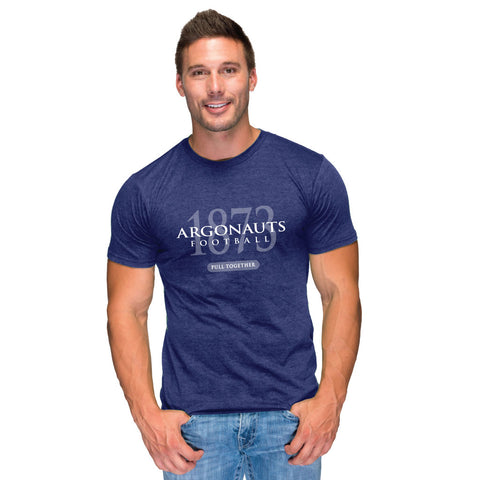Toronto Argonauts 2018 Men's Navy Heathered SS Tee - Design 058