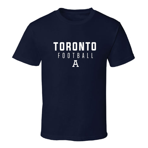 Toronto Argonauts 2017 Men's S/S Navy Tee - Stacked Design