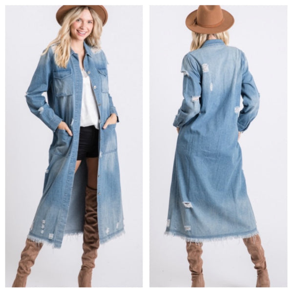 Denim Duster jacket