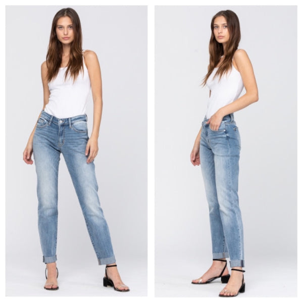 Judy Blue Fall Nights boyfriend jeans