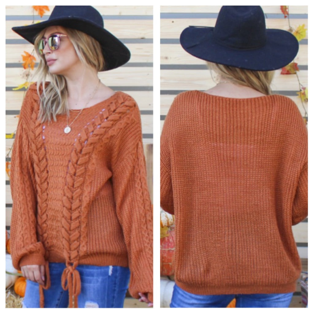 Braided Days sweater