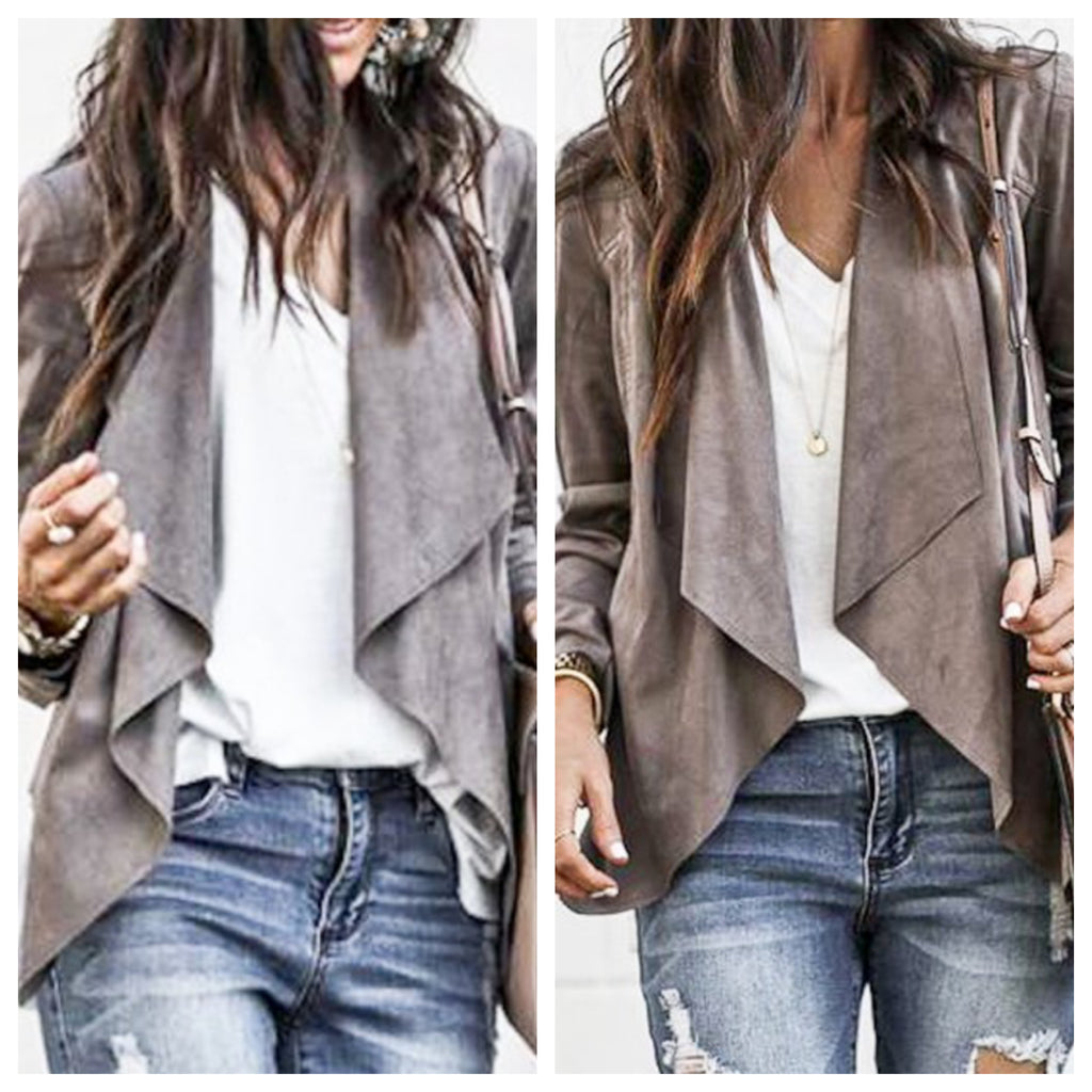 Into The Woods jacket (grey or mocha)