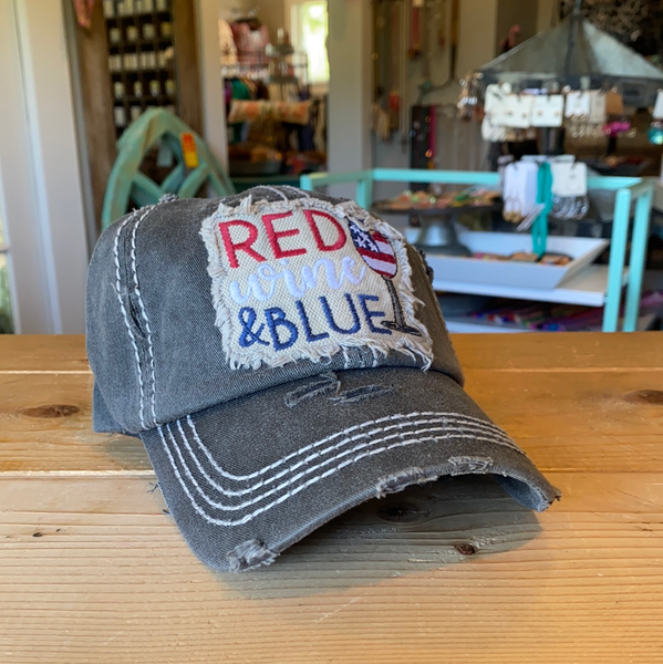 Red, Wine, & Blue hat