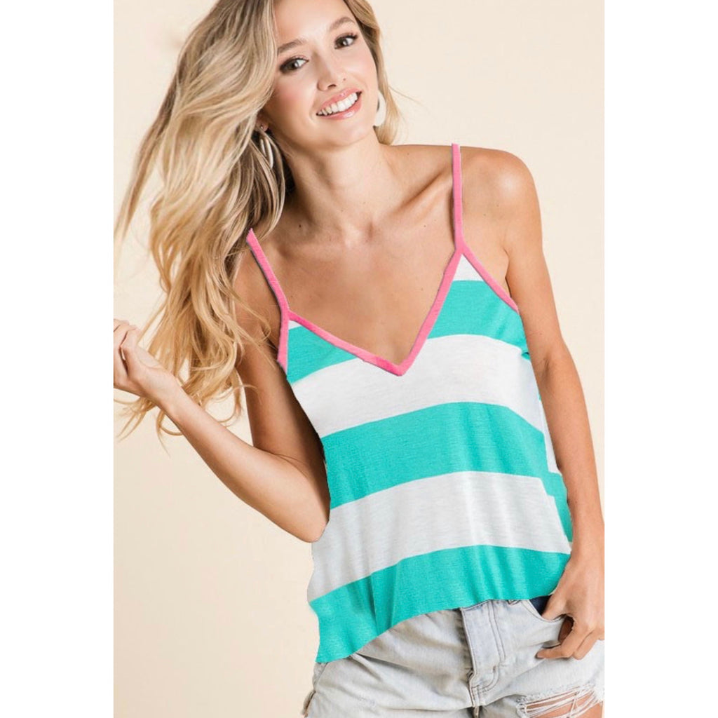 Pool Party top - aqua