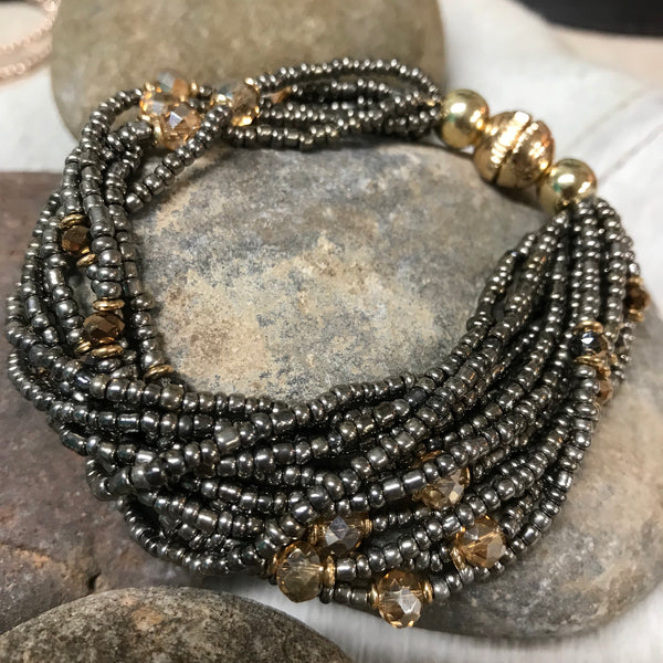 Beaded multi layer bracelet