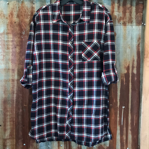 Forest Edge plaid top