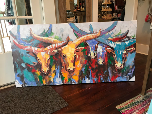 Bull Herd canvas