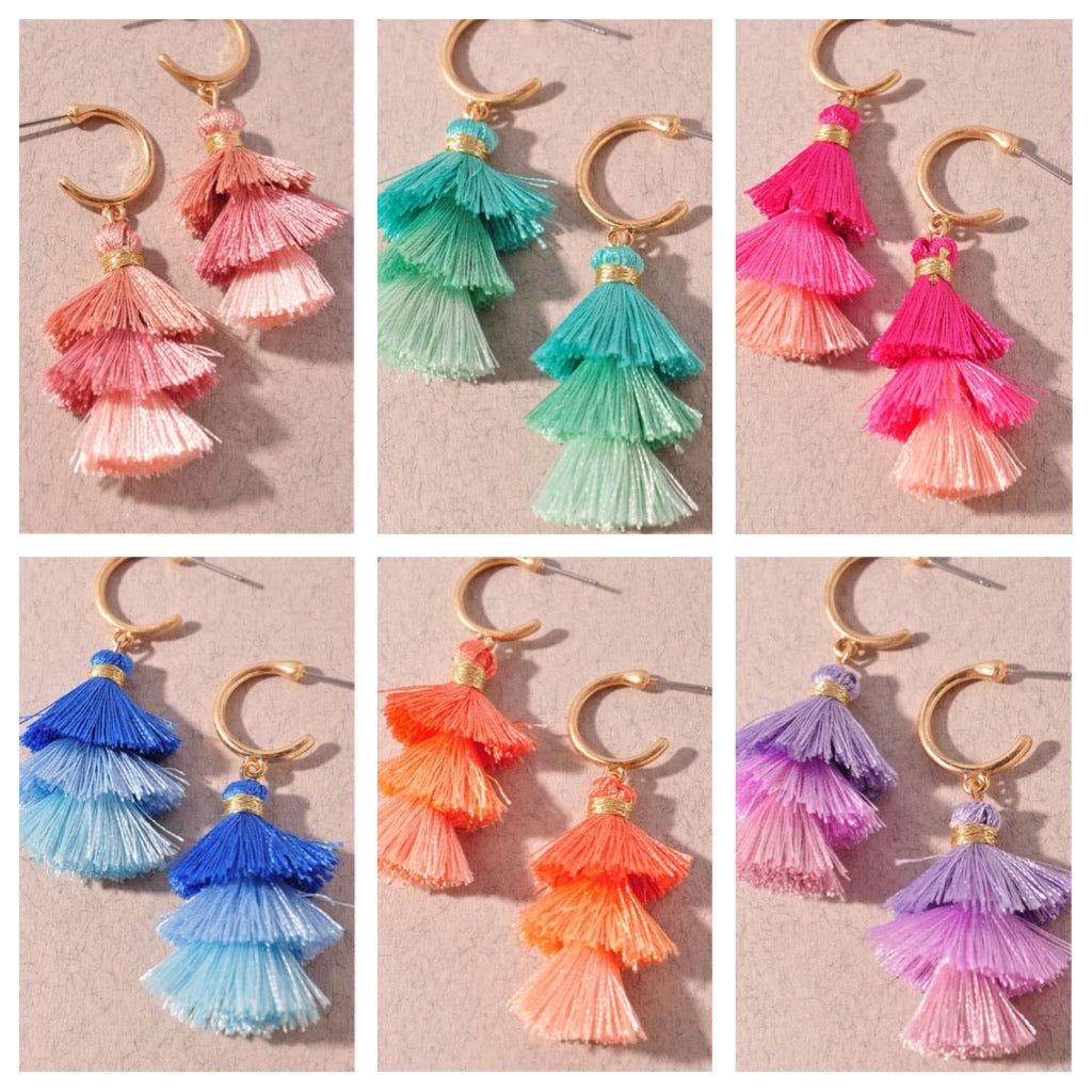 Triple Fringe Earrings