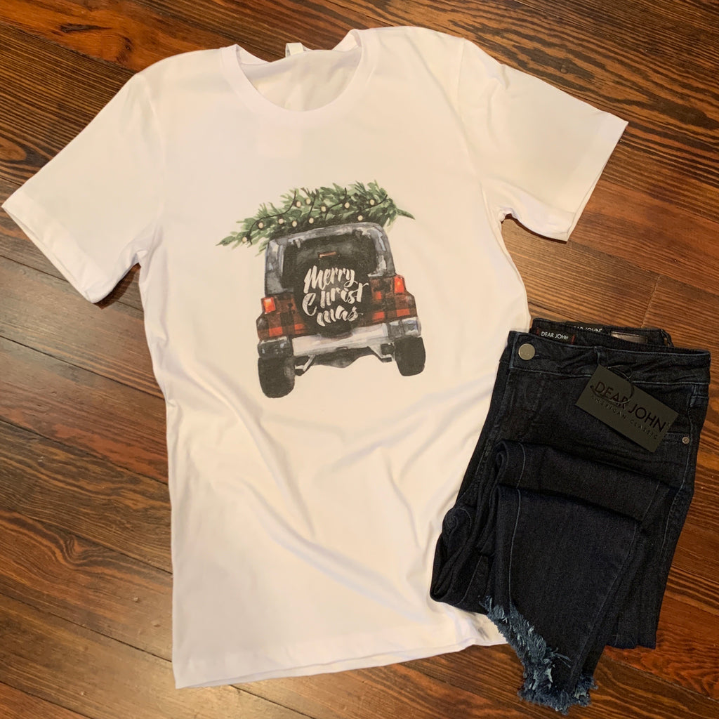 Merry Christmas Jeep tee