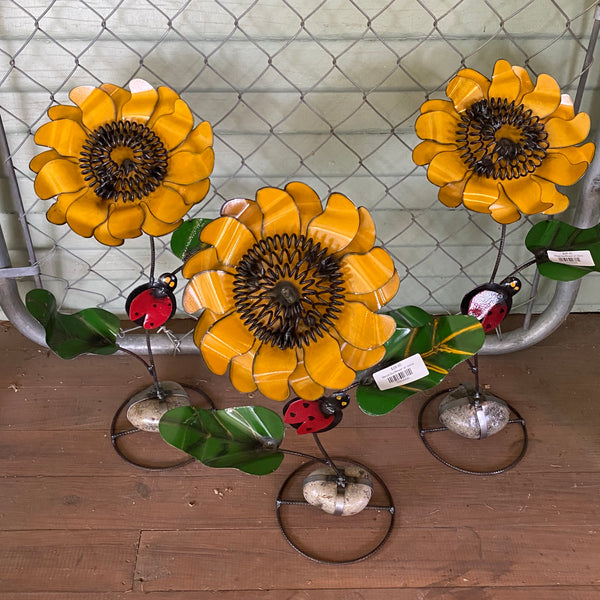 Metal-Sunflower w/ stone