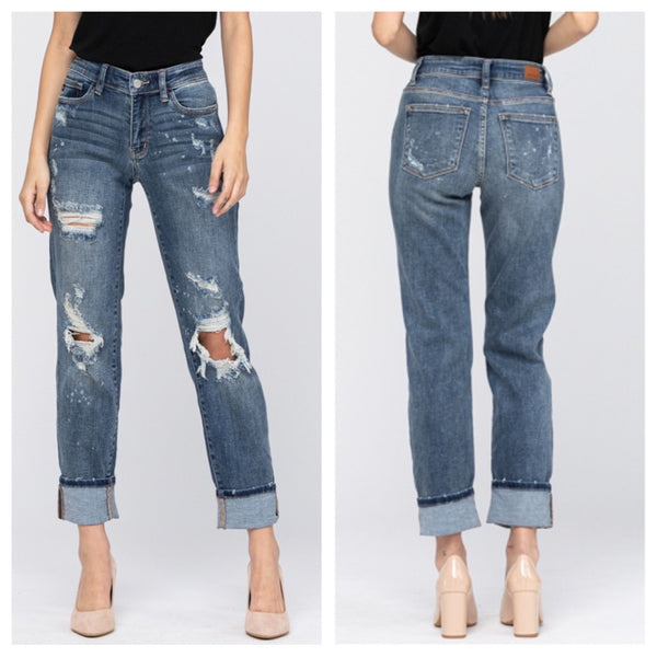 Judy Blue Bleach Boyfriend jeans