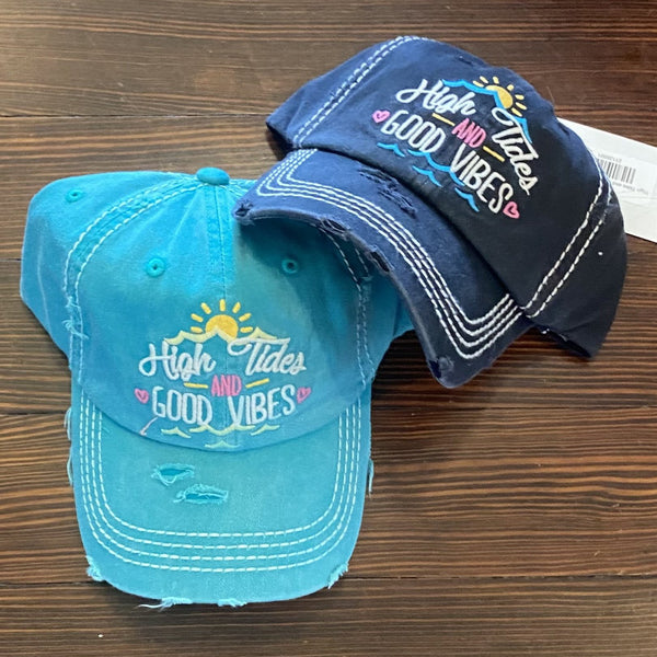 High Tides and Good Vibes hat