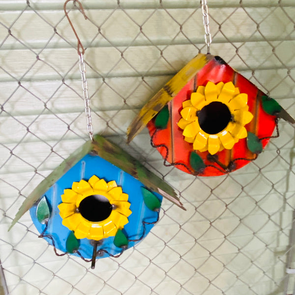 Metal-Flower Birdhouse