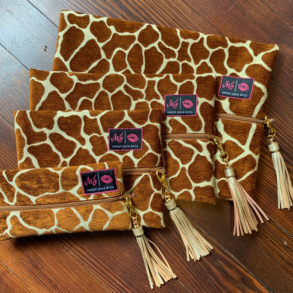 Makeup Junkie Bag - Giraffe