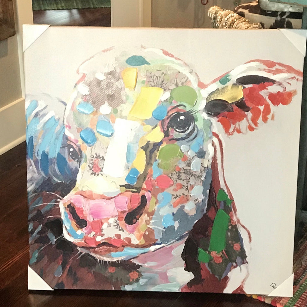 Colorful Calf canvas