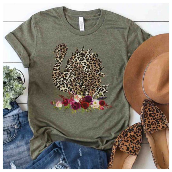 Turkey w/ floral tee (reg & plus)