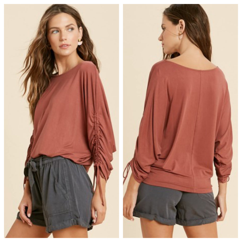 Enchanted Wish top (rust or olive)
