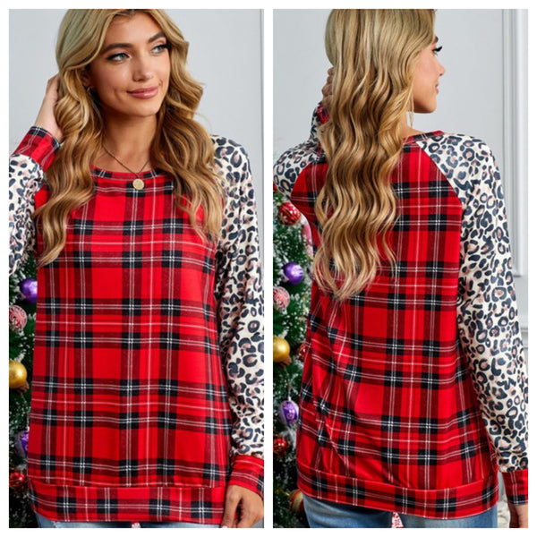Plaid Nights top